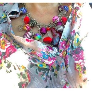 Bobble Necklace Hot Air Balloons